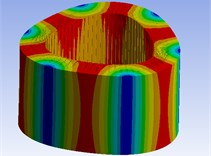 Simulation results of stator modes with FEM method