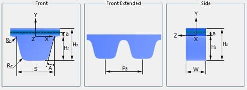 Synchronous belt parameter settings