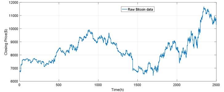 The raw Bitcoin data
