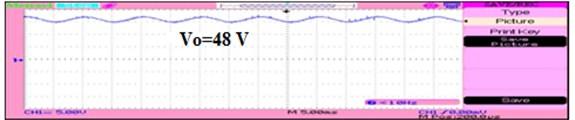 Output voltage of the boost converter