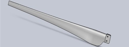 The three-dimensional model of wind turbine blade
