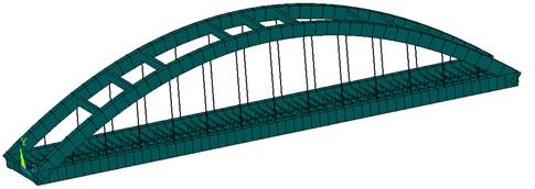Finite element model of bridge