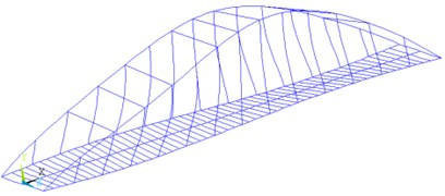 Comparisons on torsional mode shape of the arch bridge with circular hanger and flat-plate hanger