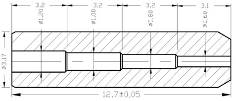 The two-dimensional model of the variable diameter pipe