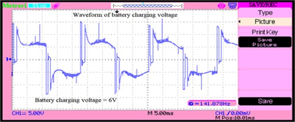 Battery charging voltage when excess power from source