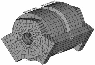 A Finite element model of the satellite node (fragment of the carrier and the satellite)