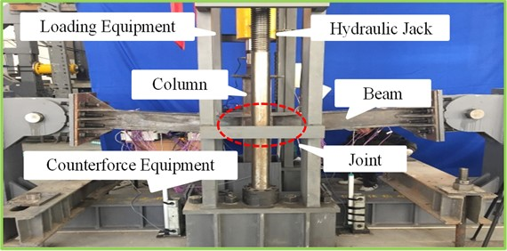 Specimens of CFST column to steel beam joint specimens with the penetrated high-strength bolts