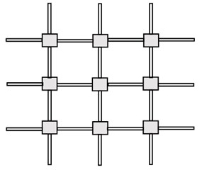 a) A lattice with the periodic structure, b) the dynamic-selfsimilar lattice (dynamic fractal)