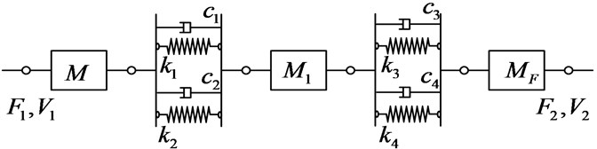 An equivalent four-terminal system with series-connected components