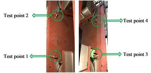 Transducer position when testing