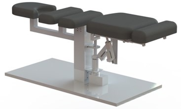 3-D model of traction treatment bed