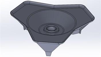Geometric model of the base plate