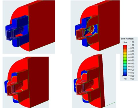 Billet interface analysis of the extrusion process