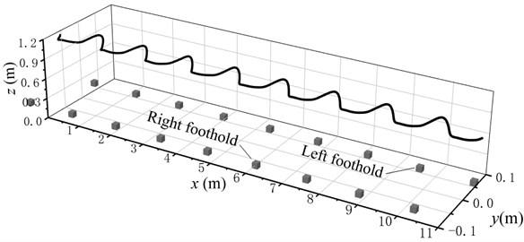 Spatial trajectory of pedestrian COM