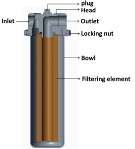 Assembly of special water filter