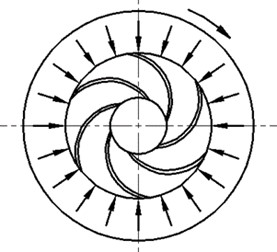 Direction and magnitude of radial forces