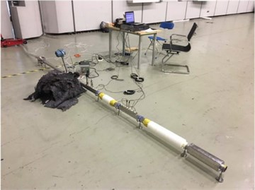 Acoustic performance measurement of resonators with mean flow