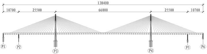 Standard deck shape and dimensions (unit: cm)