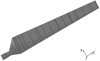 Three-dimensional model of sharp trailing-edge blade