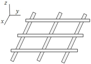 The plane lattice with a periodic structure