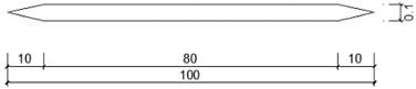Analog flat cross-sectional dimensions (unit: cm)