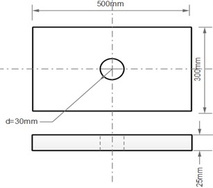 Rectangular Plate with central hole