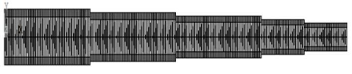 Finite element simulation diagram
