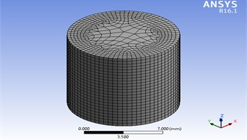 Medium meshed geometrical model for tension and compression