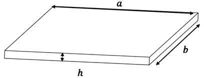 Dimensions of the rectangular plate