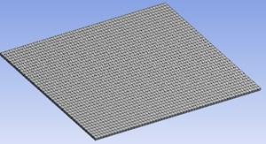 Finite element model of plate