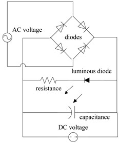 Circuit diagram of full wave rectifier