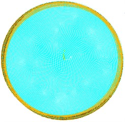 Circular plate with outer edge fixed