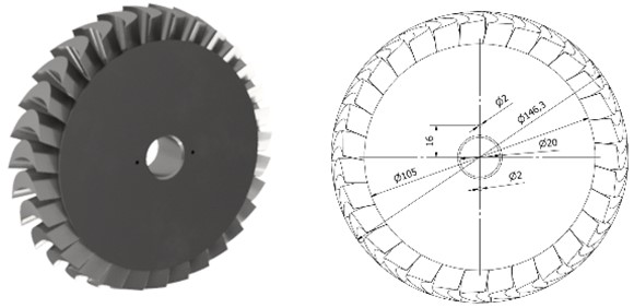 Disc whose outer diameter is 146.3 mm