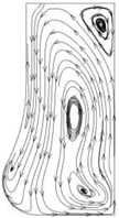 Flow distribution in the radial section of the pump cavity at the 1.2Qd operating point
