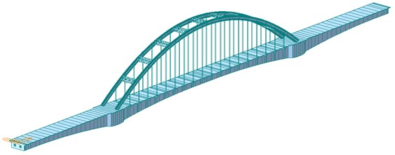 Structure diagram of the whole bridge