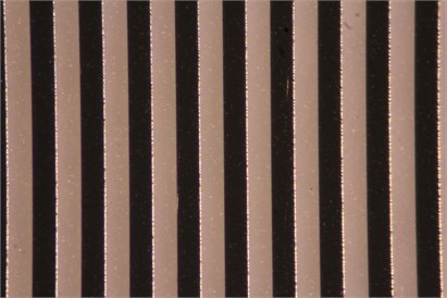 Microscope photograph of the grating (3B Scientific, U14103)