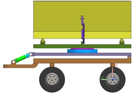 Model of sugarcane collecting device