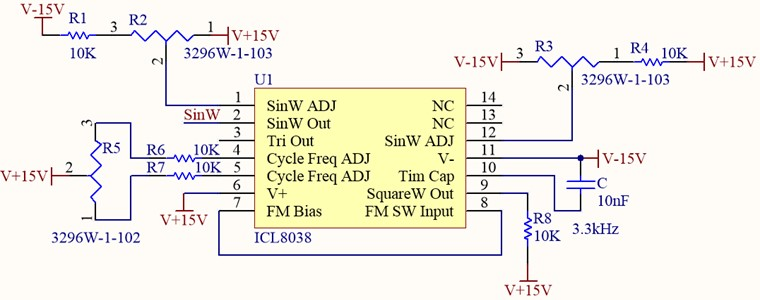 Sinusoidal wave generating circuit