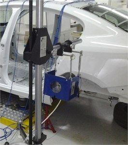 Shaker excitation in y-direction.  The photographs are taken at the Automotive Laboratory of Bogazici University