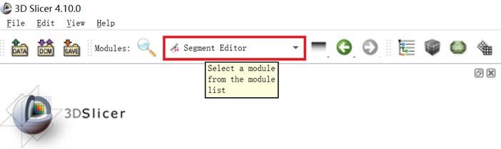 Select the segment editor module