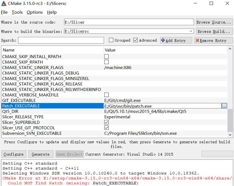 Compile error modification