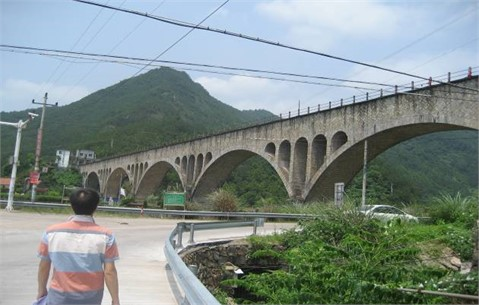 An actual aqueduct in China
