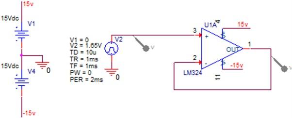 Voltage follower schematic