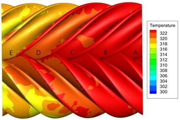 Rotor temperature field distribution