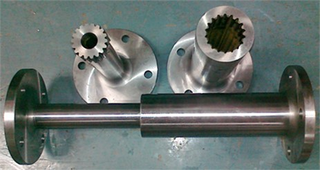 Assembly of involute spline couplings with axis deviation