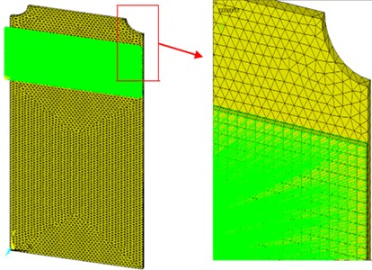 Finite element model of the host structure and the piezoelectric actuator