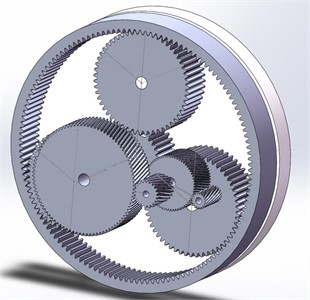 3D model of the gearbox
