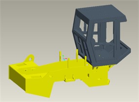 CAD and FE models of a single drum vibratory roller