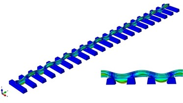Vibration modes of track structure
