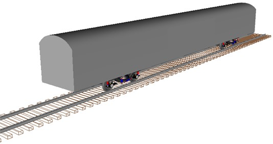 Vehicle-track space coupled model diagram